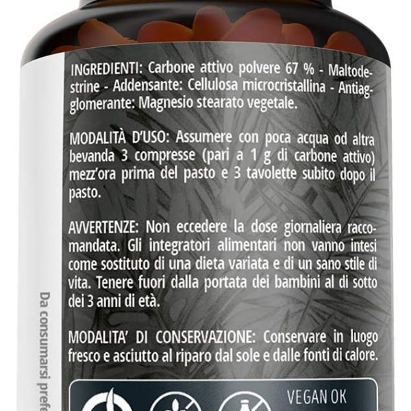 ingredients nutracle complement alimentaire charbon